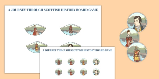 Journey Through Scottish History Cone Characters - journey, scottish, history, cone characters