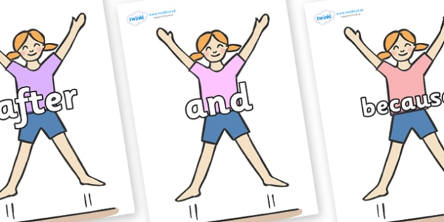 Connectives on Star Jumps - Connectives, VCOP, connective resources, connectives display words, connective displays