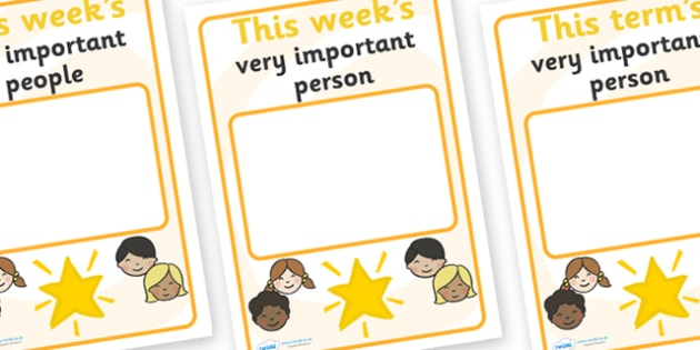 Classroom Monitor Display Signs (Very Important Person) - Monitor, termly job signs, term, monitors, classroom monitors, pupil jobs, helpers, Teaching Labels, important person