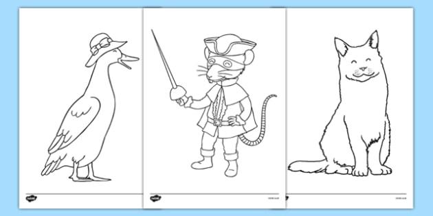Bandit Rat Themed Colouring Sheets - highway rat, bandit rat, julia donaldson, colouring, colour