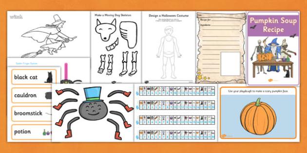 Halloween Resource Pack - halloween, halloween themed, halloween worksheets, display, halloween display lettering, halloween bunting, themed display pack