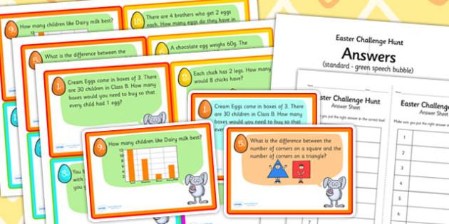 Easter Challenge Hunt Cards - easter, RE, religion, games, cards