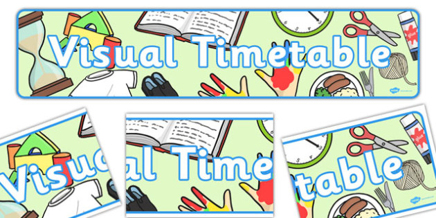 Visual Timetable Display Banner - KS1, display banner, learning banner, Daily Routine, visual timetable