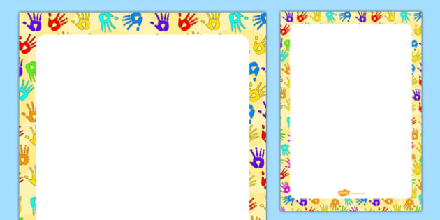 Handprint Themed Editable Display Poster - handprint, editable, display, poster