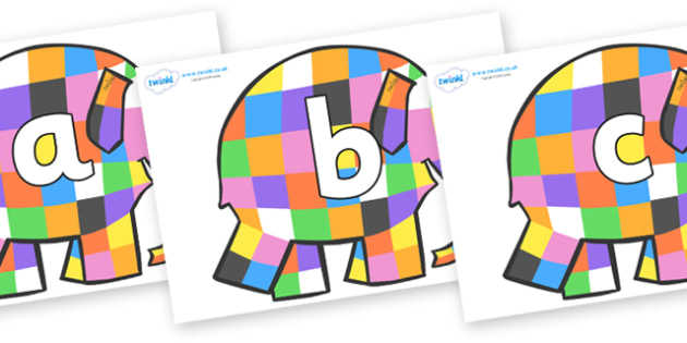 Phoneme Set on Patchwork Elephant to Support Teaching on Elmer - Phoneme set, phonemes, phoneme, Letters and Sounds, DfES, display, Phase 1, Phase 2, Phase 3, Phase 5, Foundation, Literacy