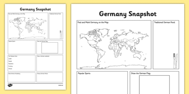 Germany Snapshot - CfE, second level, fact file, people and place, Germany, comparison