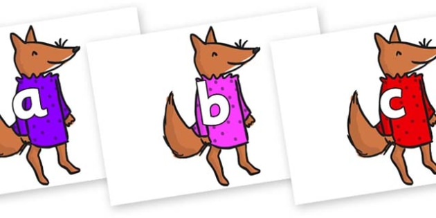Phase 2 Phonemes on Small Fox 3 to Support Teaching on Fantastic Mr Fox - Phonemes, phoneme, Phase 2, Phase two, Foundation, Literacy, Letters and Sounds, DfES, display