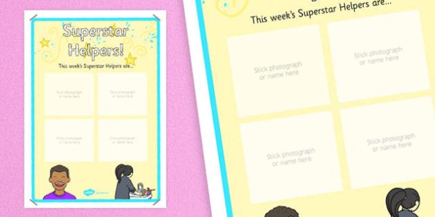 Superstar Helpers Display Poster - display, rewards, celebration, KS1, KS2