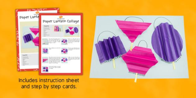 Paper Lantern Collage Craft Instructions - craft, paper, lantern