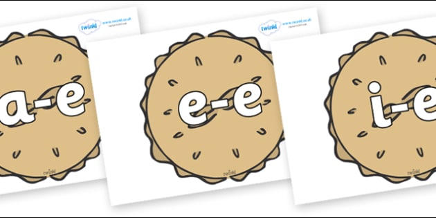 Modifying E Letters on Pies - Modifying E, letters, modify, Phase 5, Phase five, alternative spellings for phonemes, DfES letters and Sounds
