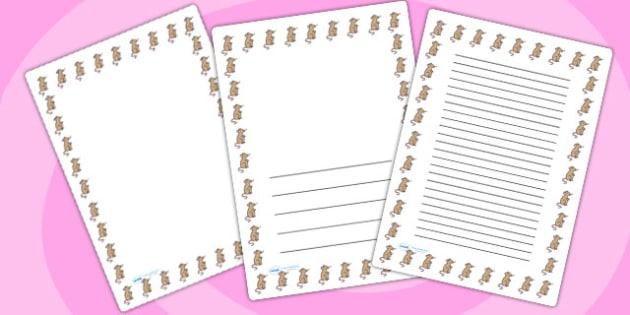 Mouse Page Borders - mouse, page borders, borders, writing