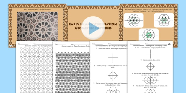 Early Islamic Civilisation Geometric Pattern Lesson Teaching Pack