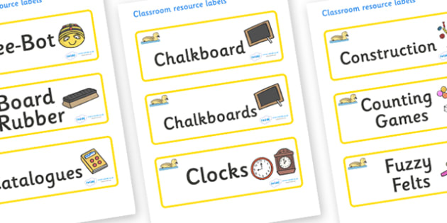 Gosling Themed Editable Additional Classroom Resource Labels - Themed Label template, Resource Label, Name Labels, Editable Labels, Drawer Labels, KS1 Labels, Foundation Labels, Foundation Stage Labels, Teaching Labels, Resource Labels, Tray Labels,