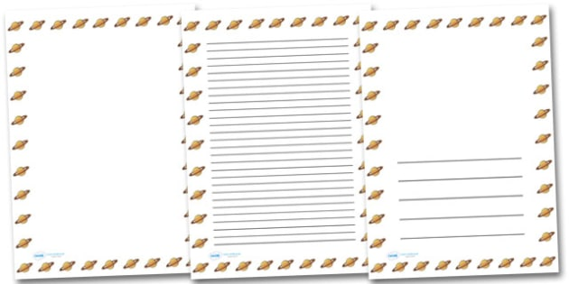 Saturn Portrait Page Borders- Portrait Page Borders - Page border, border, writing template, writing aid, writing frame, a4 border, template, templates, landscape