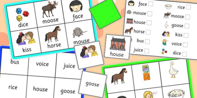 Final 'S' Sound Bingo - final s, sound, bingo, game, activity
