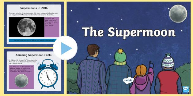 The Supermoon Informative PowerPoint