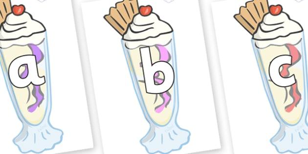 Phoneme Set on Ice Cream Sundaes - Phoneme set, phonemes, phoneme, Letters and Sounds, DfES, display, Phase 1, Phase 2, Phase 3, Phase 5, Foundation, Literacy