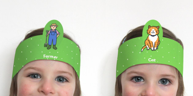 Farm Role Play Headbands - farm, roleplay, props, farm role play
