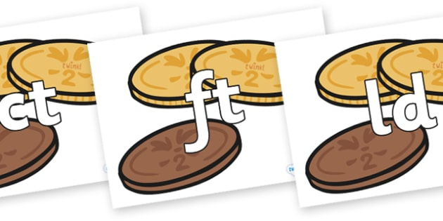 Final Letter Blends on Chocolate Coins - Final Letters, final letter, letter blend, letter blends, consonant, consonants, digraph, trigraph, literacy, alphabet, letters, foundation stage literacy