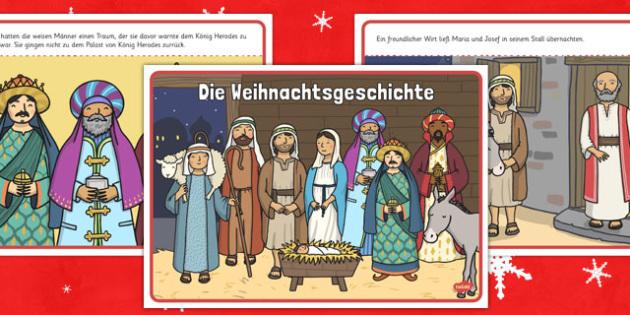 Die Weinachtsgeschichte Story German - german, christmas story, christmas, story