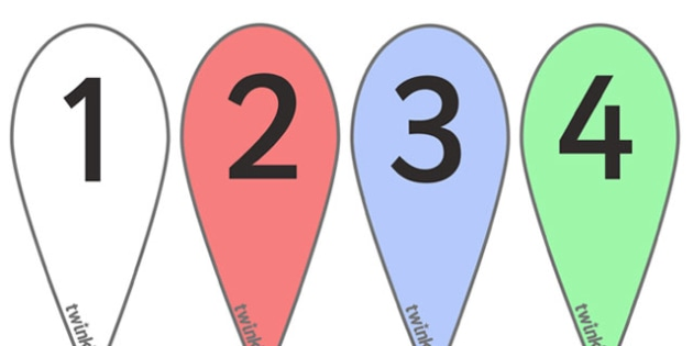 Number Fans (0-9) - education, home school, free, maths, numeracy