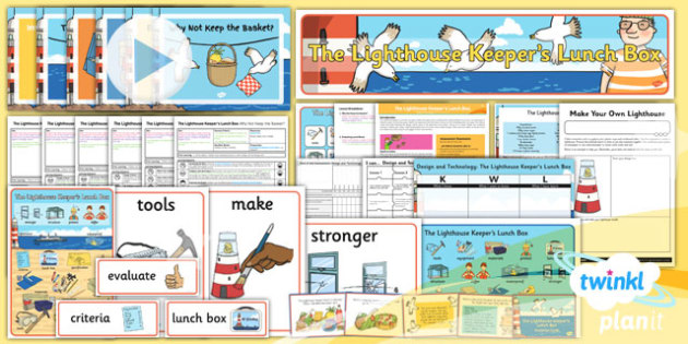 PlanIt - DT KS1 - The Lighthouse Keeper's Lunch Box Unit Pack