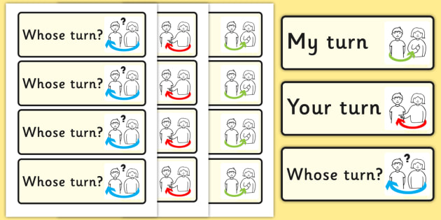 My Turn Your Turn Visual Support Cards - behaviour, turn taking