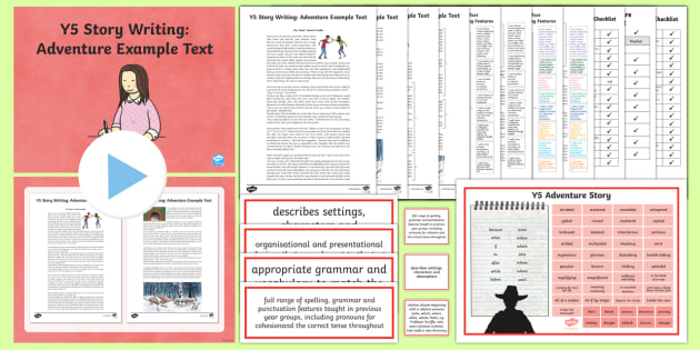 Y5 Story Writing: Adventure Example Text - Example Texts Y5, exemplification, moderating, moderation, wagoll, SATs, fiction, non-fiction, sampl