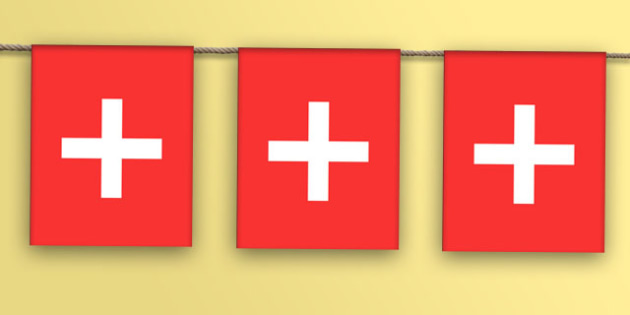 Switzerland Flag Bunting - nation, international, geography, culture, display, europe, olympics