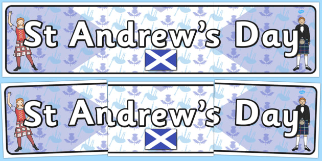 St Andrew's Day Display Banner - holidays, festivals, header