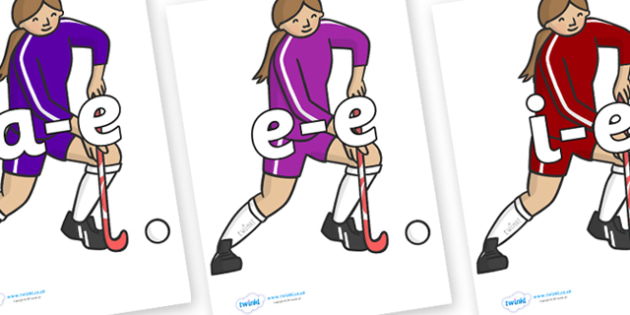 Modifying E Letters on Hockey Players - Modifying E, letters, modify, Phase 5, Phase five, alternative spellings for phonemes, DfES letters and Sounds