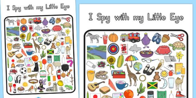 I Spy With My Little Eye Activity 2 - australia, I spy, activity