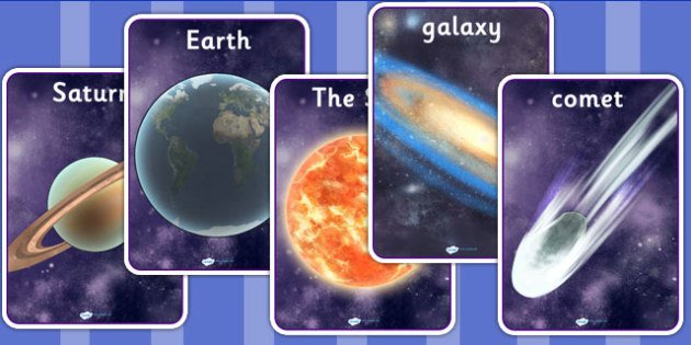 Space Display Posters Detailed Images - planets, space display