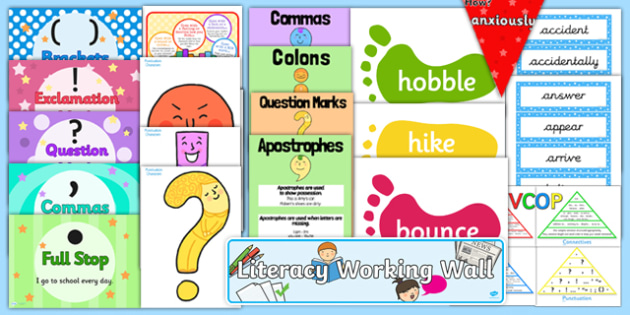 KS2 Literacy Working Wall Display Pack
