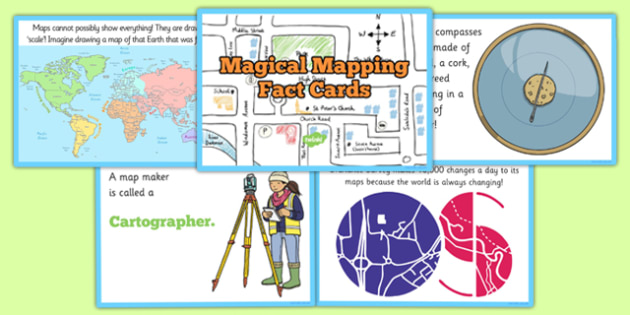 Magical Mapping Fact Cards - magical mapping, fact cards, fact, cards, geography, atlas, ks1, key stage 1, one