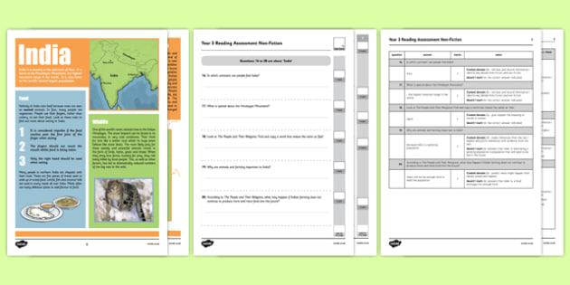 Year 3 Reading Assessment Non-Fiction Term 3 - sats, summative, diagnostic, practice, sample