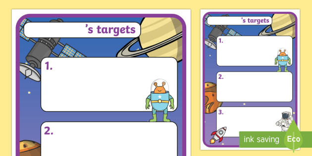 Themed Target Sheets Space - target sheets, space, target, themed, achieve