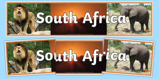 South Africa Photo Display Banner - south africa, photo display banner, display banner, display, banner, photo banner, header, display header, photo header