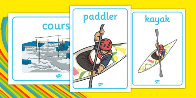 Rio 2016 Olympics Canoeing Display Posters - Canoeing, Olympics, Olympic Games, sports, Olympic, London, 2012, display, banner, poster, sign, activity, Olympic torch, events, flag, countries, medal, Olympic Rings, mascots, flame, compete
