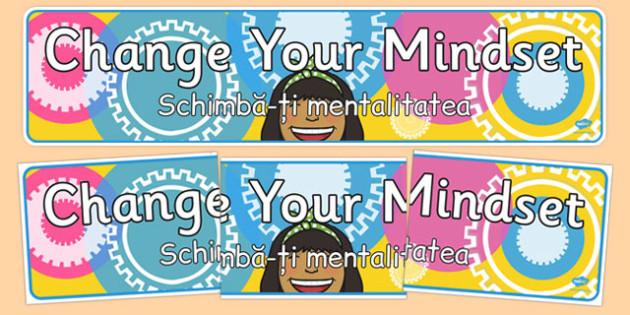 Change your Mindset Display Banner Romanian Translation - romanian, change your mindset, display banner, display