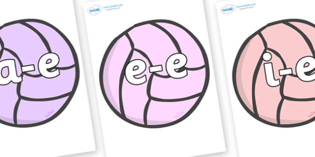 Modifying E Letters on Balls - Modifying E, letters, modify, Phase 5, Phase five, alternative spellings for phonemes, DfES letters and Sounds