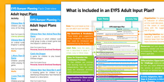 EYFS Chinese New Year Bumper Planning and Resource Pack Overview - EYFS, Early Years Planning, festival, celebration