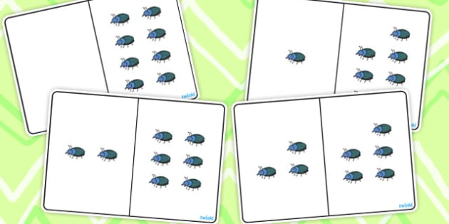 Beetle Counting Number Bonds to 8 - number, bonds, counting
