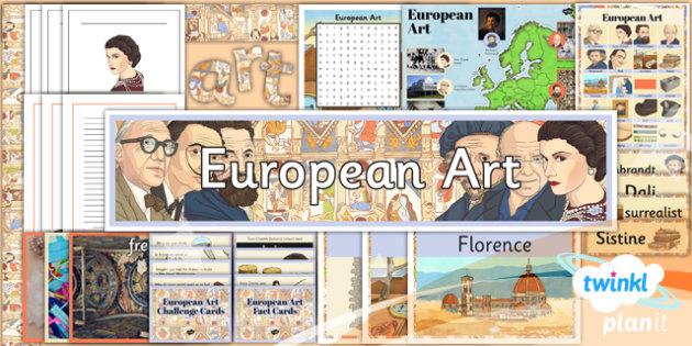 PlanIt - LKS2 Art - European Art Unit Additional Resources - planit, art, unit
