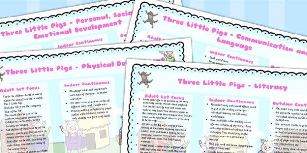 The Three Little Pigs Lesson Plan EYFS - australia, lesson plan