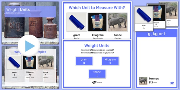 Maths Intervention Weight Unit Pack - SEN, special needs, intervention, maths, measure, weight
