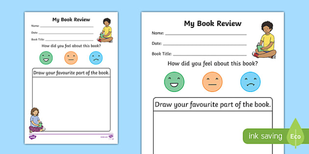 My Book Review Writing Worksheet - book review, book review template, book review worksheet, my book review, book review writing frame, reading, writing