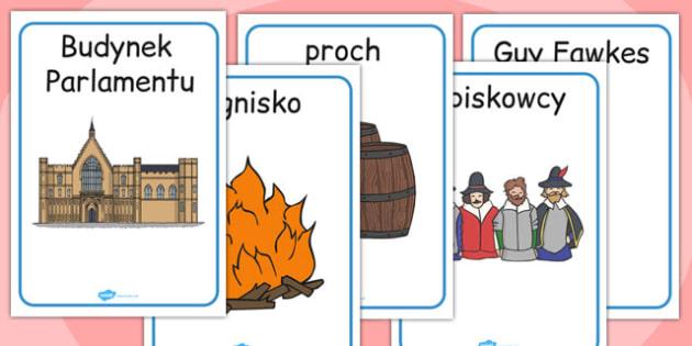 Materiały na gazetkę ścienną Spisek Prochowy po polsku - historia , Polish