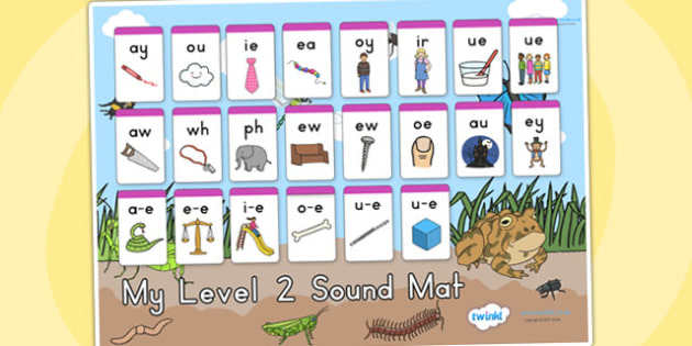 Minibeasts Level Two Sound Mat - sounds, sounds mat, level 2