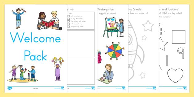 Kindergarten Welcome Pack - kindergarten, welcome, new term, term